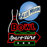 Blue Moon Bowling Spare Time Beer Sign Neon Sign