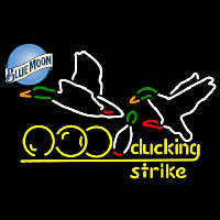 Blue Moon Bowling Sucking Strike Beer Sign Neon Sign