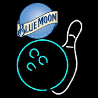 Blue Moon Bowling White Beer Sign Neon Sign