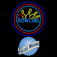 Blue Moon Bowling Yellow Blue Beer Sign Neon Sign