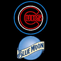 Blue Moon Chicago Cubs MLB Beer Sign Neon Sign