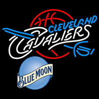 Blue Moon Cleveland Cavaliers NBA Beer Sign Neon Sign
