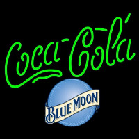 Blue Moon Coca Cola Beer Sign Neon Sign