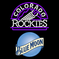 Blue Moon Colorado Rockies MLB Beer Sign Neon Sign