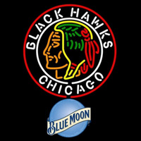 Blue Moon Commemorative 1938 Chicago Blackhawks Beer Sign Neon Sign