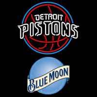 Blue Moon Detroit Pistons NBA Beer Sign Neon Sign