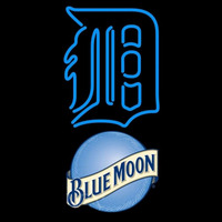 Blue Moon Detroit Tigers MLB Beer Sign Neon Sign