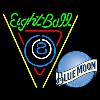 Blue Moon Eightball Billiards Pool Beer Sign Neon Sign