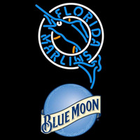 Blue Moon Florida Marlins MLB Beer Sign Neon Sign