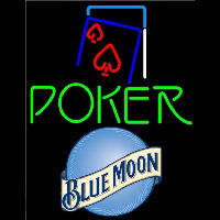 Blue Moon Green Poker Red Heart Beer Sign Neon Sign