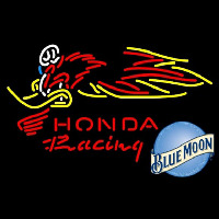 Blue Moon Honda Racing Woody Woodpecker Crf 250450 Beer Sign Neon Sign