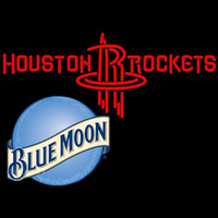 Blue Moon Houston Rockets NBA Beer Sign Neon Sign