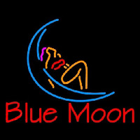 Blue Moon Lady Orange Beer Neon Sign