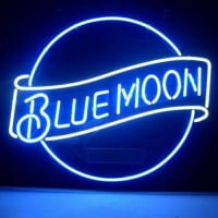 Blue Moon Lager Neon Sign
