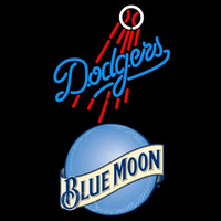 Blue Moon Los Angeles Dodgers MLB Beer Sign Neon Sign