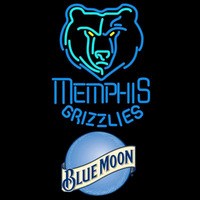 Blue Moon Memphis Grizzlies NBA Beer Sign Neon Sign