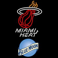 Blue Moon Miami Heat NBA Beer Sign Neon Sign