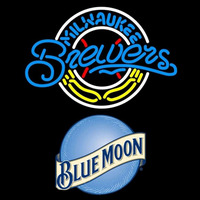 Blue Moon Milwaukee Brewers MLB Beer Sign Neon Sign