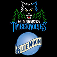 Blue Moon Minnesota Timberwolves NBA Beer Sign Neon Sign