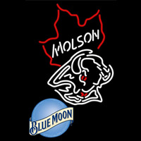 Blue Moon Molson Buffalo Sabres NHL Beer Sign Neon Sign