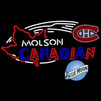 Blue Moon Molson Montreal Canadiens Beer Sign Neon Sign