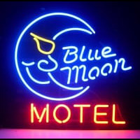 Blue Moon Motel Hotel Country Retro Neon Sign