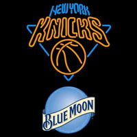 Blue Moon New York Knicks NBA Beer Sign Neon Sign