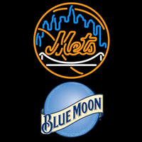 Blue Moon New York Mets MLB Beer Sign Neon Sign