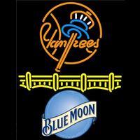 Blue Moon New York Yankees Beer Sign Neon Sign