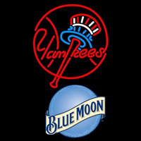 Blue Moon New York Yankees MLB Beer Sign Neon Sign