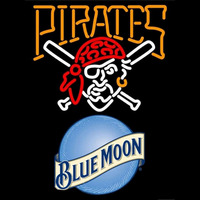 Blue Moon Pittsburgh Pirates MLB Beer Sign Neon Sign