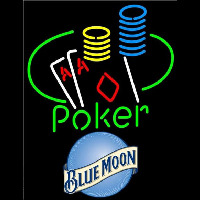 Blue Moon Poker Ace Coin Table Beer Sign Neon Sign