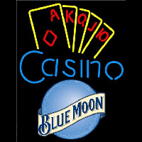 Blue Moon Poker Casino Ace Series Beer Sign Neon Sign