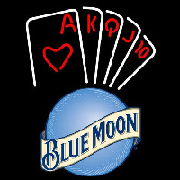 Blue Moon Poker Series Beer Sign Neon Sign