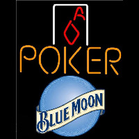 Blue Moon Poker Squver Ace Beer Sign Neon Sign