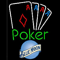 Blue Moon Poker Tournament Beer Sign Neon Sign