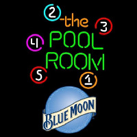 Blue Moon Pool Room Billiards Beer Sign Neon Sign