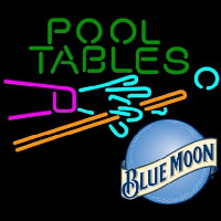 Blue Moon Pool Tables Billiards Beer Neon Sign
