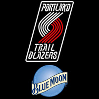 Blue Moon Portland Trail Blazers NBA Beer Sign Neon Sign