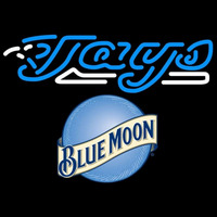 Blue Moon Raunded Toronto Blue Jays MLB Beer Sign Neon Sign