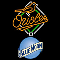 Blue Moon Round Logo Baltimore Orioles MLB Beer Sign Neon Sign