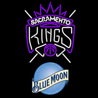 Blue Moon Sacramento Kings NBA Beer Sign Neon Sign