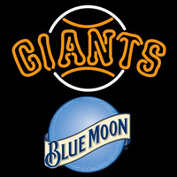 Blue Moon San Francisco Giants MLB Beer Sign Neon Sign
