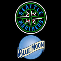 Blue Moon Seattle Mariners MLB Beer Sign Neon Sign