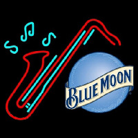 Blue Moon Sexaphone Beer Neon Sign