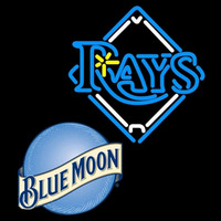 Blue Moon Tampa Bay Rays MLB Beer Sign Neon Sign