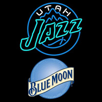 Blue Moon Utah Jazz NBA Beer Sign Neon Sign