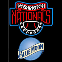 Blue Moon Washington Nationals MLB Beer Sign Neon Sign