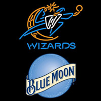 Blue Moon Washington Wizards NBA Beer Sign Neon Sign