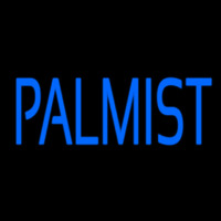 Blue Palmist Block Neon Sign